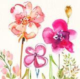 Handgemachtes modernes Blumen-Segeltuch-Ölgemälde