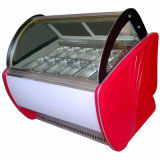 Modelo de bancada de tamanho grande visor de gelado para venda