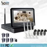 sistema di registrazione senza fili di obbligazione della macchina fotografica del IP di 4CH WiFi CCTV per il Built-in di obbligazione domestica schermo dell'affissione a cristalli liquidi da 10 pollici