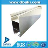 Windows 여닫이 창 기구를 위한 양극 처리된 청동색 6063 알루미늄 밀어남 단면도