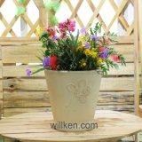 型MGO旧式な屋外の円形プランター植木鉢