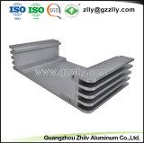 Perfil de alumínio anodizado competitivo para o dissipador de calor do radiador de equipamento de áudio do carro