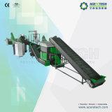 Linha de lavagem recicl do equipamento da película plástica/máquina de recicl plástica