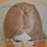 Peluca brasileña rubia de las mujeres de la tapa de la piel del pelo (PPG-l-0941)