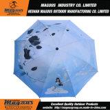 [بونج] مع طلية سوداء يطوي مظلة