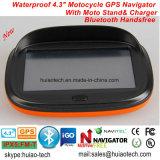 "Private IP65 Resistente al agua de 4,3"" Alquiler de carretilla Marine, navegación GPS con WINCE 6.0 dual a 800 MHz, transmisor de FM, auriculares Bluetooth, navegador GPS Dispositivo de seguimiento"