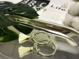方法宝石類の女性のための白い糸のふさのイヤリング