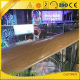 Perfiles de aluminio de la barandilla y de la barrera de la protuberancia del grano de madera para la decoración