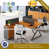 Armoire en bois moderne de verre aluminium / bureau de poste de travail Partition (HX-8N0227)
