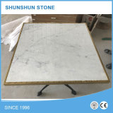 Parte superior de mármore branca da mesa redonda de Carrara da alta qualidade