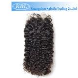 Cheveux humains brésiliens 4*4 trois parts de fermeture de lacet