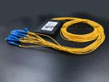광학 섬유 케이블 Gpon 원거리 통신 1X16 플라스틱 상자 PLC 쪼개는 도구 Sc/Upc