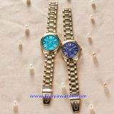 남자 숙녀 (WY-17005A)를 위한 주문 로고 석영 시계 형식 손목 시계