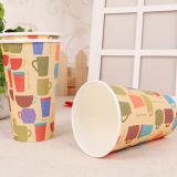 Diseño caliente impreso disponible de la taza de papel de la bebida de 16 onzas