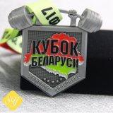 Kundenspezifischer preiswerter Preis-Fußball-Großhandelsdecklack-preiswerter Sport, der Medaille laufen lässt