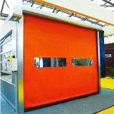 Porte à grande vitesse flexible d'obturateur de roulement de PVC de reprise automatique extérieure d'individu