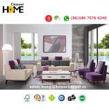 Ultimo sofà del tessuto di legno solido 2017 per il salone domestico (HCF7033)
