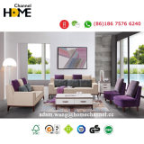 2017 Última Estructura de madera maciza sofás para sala de estar en casa (HCF7033)