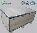 Деревянные сильные упаковывая клети коробок для хранения или выставки с шарнирами