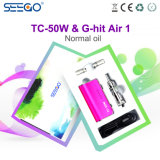 Seego는 공기 1 & Tc 50W 가장 새로운 디자인 스테인리스 전자 담배 장비를 G 명중했다