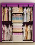 De eenvoudige Moderne het Vouwen Ontwerpen van de Garderobe van de Slaapkamer van de Stof Draagbare