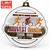 Médaille faite sur commande de championnat de chemin de bicyclette de souvenir de sport en métal de vente chaude
