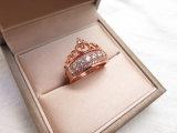 Uitstekende kwaliteit 2 in Afzonderlijke 1 maakt de Ring van het Messing van het Koper van de Diamant van de Steen Zircon voor Vrouwen los