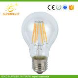 Branca quente populares A60 3W LED de 6 W a lâmpada de incandescência com aprovado pela CE