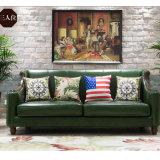 居間の家具の現代デザイン革ソファー(AS848)
