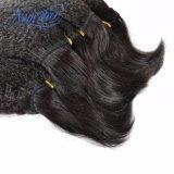大きさの卸し売り品質のインドのねじれたまっすぐなバージンの人間の毛髪