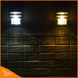 Luz solar solar do diodo emissor de luz do caminho da lâmpada de parede do sensor de prata ao ar livre do preto PIR