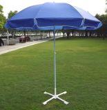 Вручную откройте солнца на пляже белого и голубого цветов зонтик с малым MOQ