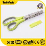 Универсальные ножницы кухни 5 лезвий с гребнем чистки