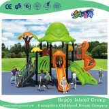 Средним гальванизированная морским бризом стальная спортивная площадка детей с скольжением двойного слоя цилиндрическим (HG-10002)