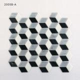 Schwarze und graue kleine gekopierte Küche-Wand-Glasmosaik-Fliesen
