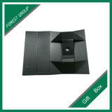 贅沢で黒いボール紙の折るワインボックス