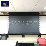 """130"""" широкоэкранный дисплей высокой контрастности домашнего кинотеатра в помещении черный механизированного проекционного экрана"""