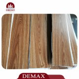 plancher de luxe de vinyle des graines de film publicitaire de 4.0mm de PVC de configuration desserrée en bois de planche