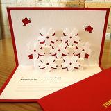 Produits de papier d'impression, carte de voeux de cadeau pour des vacances de Chirstmas d'anniversaire de mariage