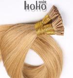 Remy de cabelo humano um cabelo liso Brown Extensão de cabelo queratina 18 pol