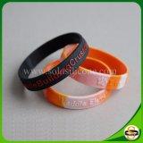 Beste Qualitätskundenspezifischer SilikonWristband mit geprägtem Firmenzeichen