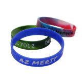 Custom Made Cheap cadeau promotionnel de la soie Bracelet en silicone d'impression