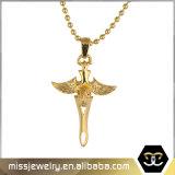 Collier pendant Mjhp072 de croix d'aigle de Hip Hop Thord d'or de Dubaï