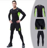 Los Tres-Pedazos al por mayor de las medias de las chaquetas de la aptitud sublimaron la ropa de deportes del Tracksuit de los hombres