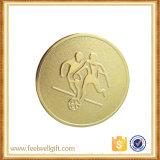 Jugar juego de fútbol personalizadas medalla insignia de la tarjeta de aluminio