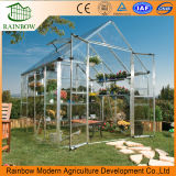 Construction en acier préfabriqués Feuille de polycarbonate Mini serre pour les fleurs et de légumes