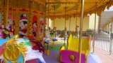 Parc de loisirs de l'acier de jouets de jeu extérieur Carrousel merry go round