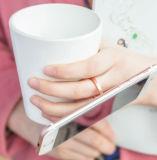 Anel de dedo da forma da gota da água do suporte do carrinho do telefone da dobra de uma rotação de 360 graus
