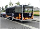 De rookloze BBQ Kampeerauto Bevroren Catering van de Yoghurt met de Bestelwagen van de Hamburger van Planken met Afzuigkap