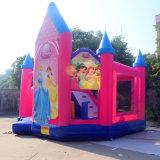 Schöne rosafarbene Farbe Belüftung-Snow White aufblasbares federnd springendes Schloss